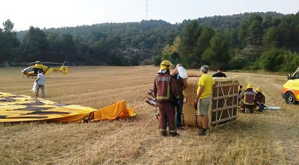 La canasta del globo accidentado / Foto: Bomberos de la Generalitat