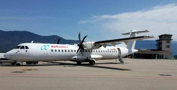 ATR 72-500 de Air Europa operado por SwiftAir, hoy en Andorra-La Seu