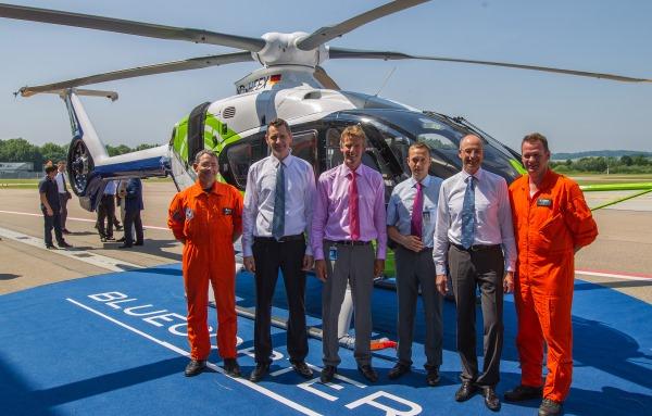 Directivos y pilotos de Airbus Helicopters implicados en el desarrollo del Blucopter
