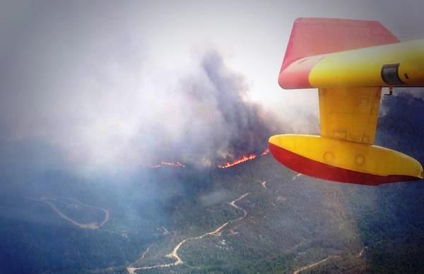 Imagen del incendio de Òdena / Ministerio de Defensa