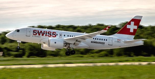 Swiss es la compañía de lanzamiento de los CSeries / Bombardier