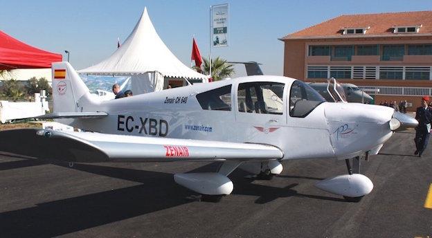 El avión siniestrado, en enero de 2010 en una feria aeronáutica celebrada en el aeropuerto de Marrakech / Alfonso Ródenas