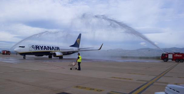 Llegad del primer vuelo comercial al Aeropuerto de Castellón