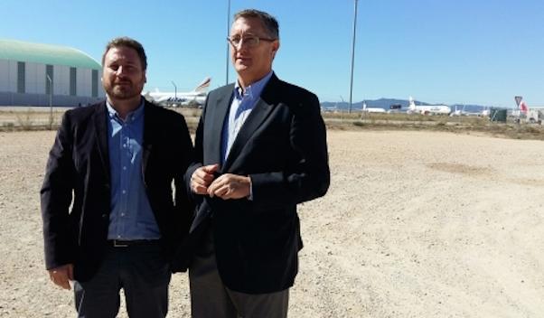 José Luis Soro y Manuel Blasco / Foto: Aeropuerto de Teruel