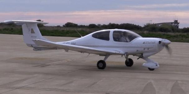 Uno de los cuatro aviones que ha desplazado Airways Aviation a Huesca