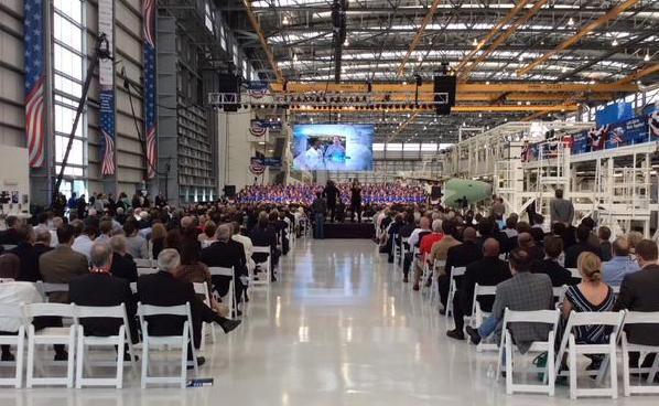 En una parte de la industria se celebró la inauguración / Airbus