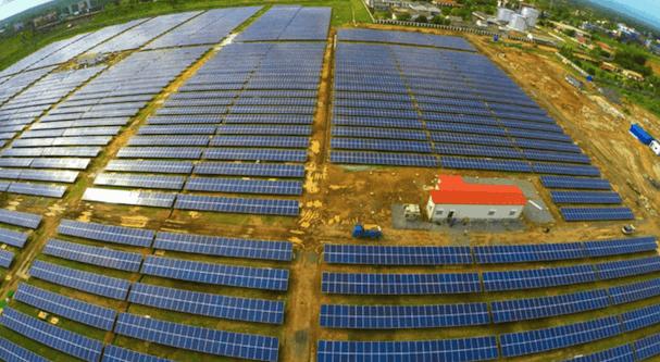 Imagen de las placas solares que dan energía al aeropuerto / Foto: Aeropuerto de Cochim