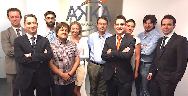 Personal del nuevo centro de Akka Aeroconseil en España