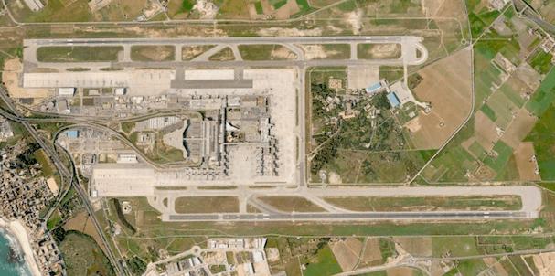 Aeropuerto de Palma de Mallorca / Google Earth