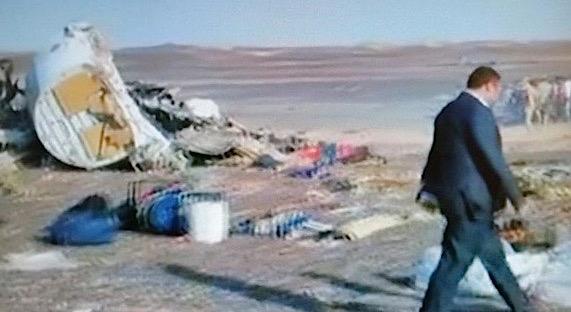 Restos del avión siniestrado / Vídeo TVE