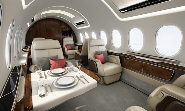 Dibujo preliminar de la cabina del Aerion