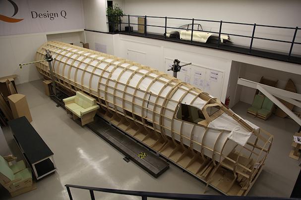 Maqueta del fuselaje del Aerion en fase de construcción