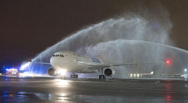 Llegada del avión a Madrid Madrid - Barajas / Aena