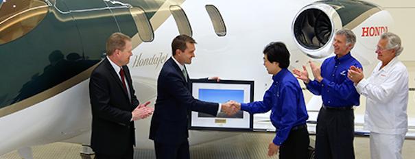 Acto de entrega del primer Hondajet