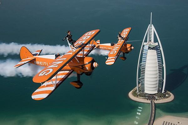 El equipo Breitling Wingwalker, en Dubai /