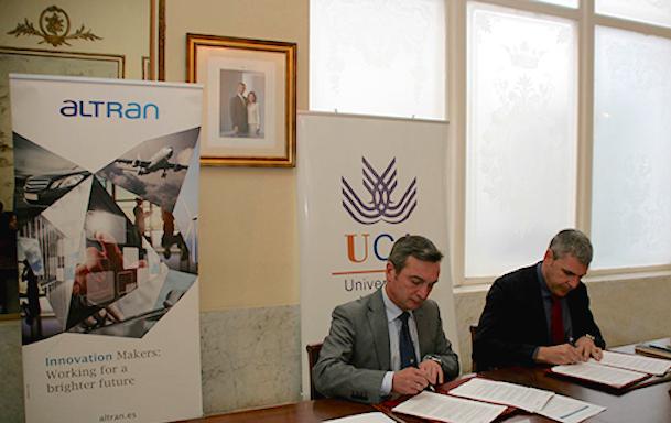 Imagen de la firma del convenio / Altran