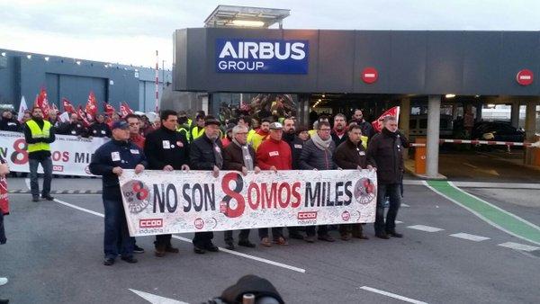 Manifestación de apoyo a los trabajadores procesados