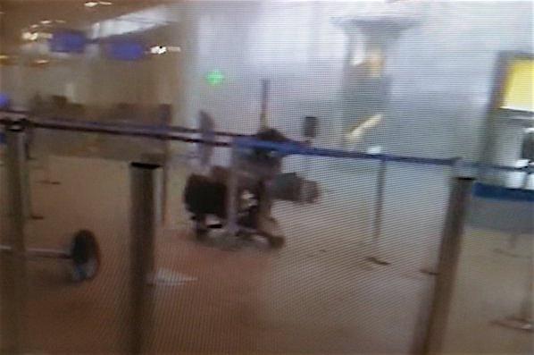 La terminal de aeropuerto de Bruselas, tras las explosiones en la terminal