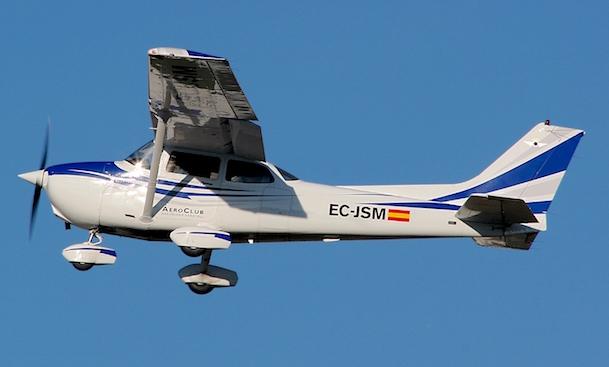 El Cessna 172 siniestrado / Foto: José Ramón Pérez Ebrí