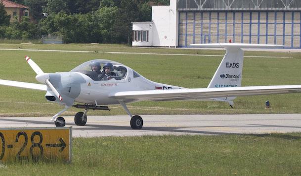 Avión Diamond Aircraft DA20 con motorización eléctrica de Siemens / Grupo Airbus