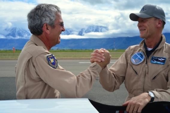 Jim Payne, jefe de pilotos de la misión Perlan 2, y