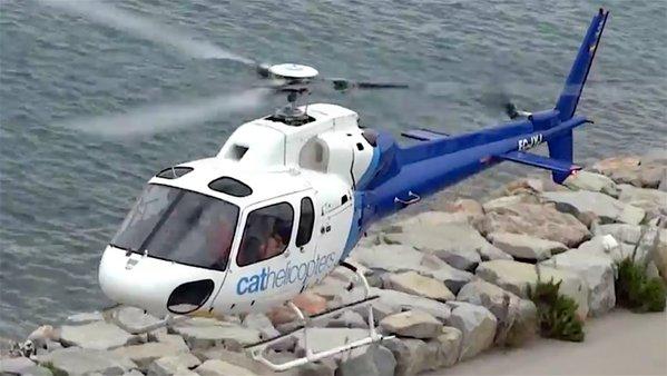 El helicóptero que sobrevoló de noche Barcelona / AeroTendencias.com