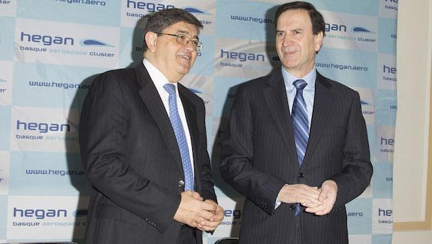 Iñaki Lopez Gandásegui y José Juez, presidente y director gerente de HEGAN