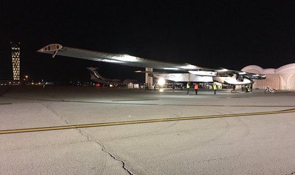 El Solar Impulse 2, en el aeropuerto de Dayton