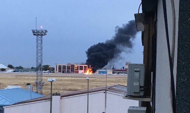 Foto del accidente, publicada en el Twitter de @Celiavc