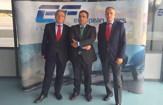 De izquierda a derecha - Prósper Serra, Leonardo Falcó y Antonio Valldecabres Blasco