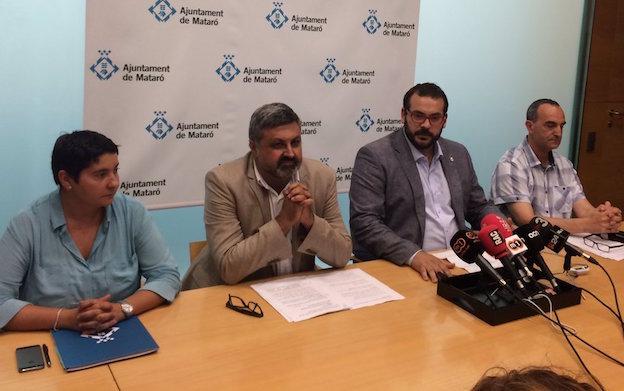 Rueda de prensa en la que se ha comunicado la cancelación de la Festa al Cel