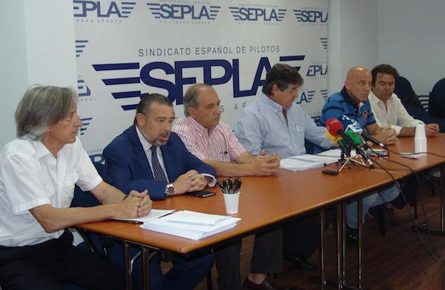 Rueda de prensa de los portavoces de SEPLA