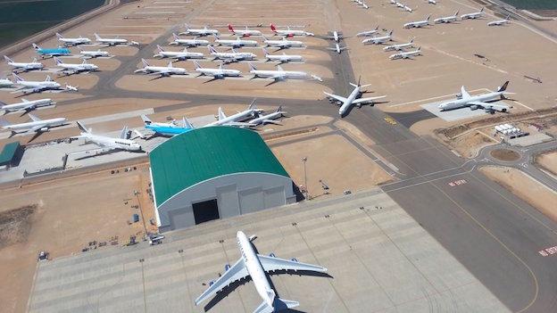 El hangar de Tarmac en el Aeropuerto de Teruel