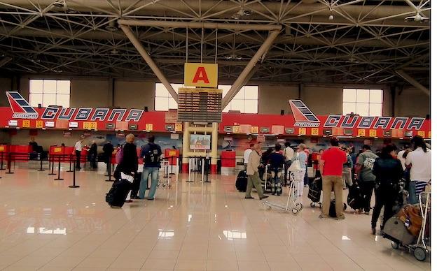 Mostradores de Cubana de Aviación