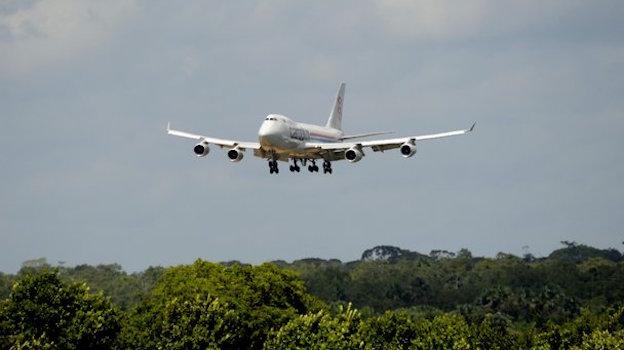 Llegada a la Guayana Francesa del 747 con los satélites / ESA