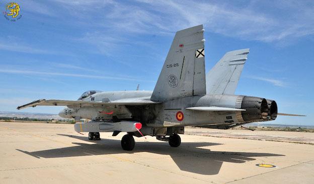 F-18 del Ala 15 armado con el misil Taurus / Ejército del Aire