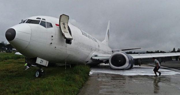 El avión siniestrado, en una foto publicada en Twitter