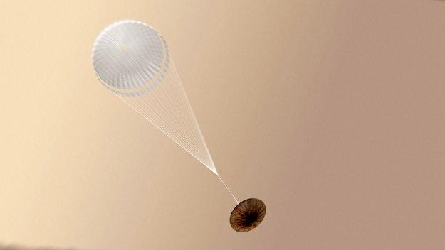 Parece que después de desplegarse el paracaídas se produjeron los fallos / ESA