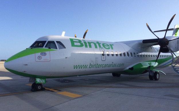 El nuevo ATR 72-600 de la compañía / @BinterCanarias