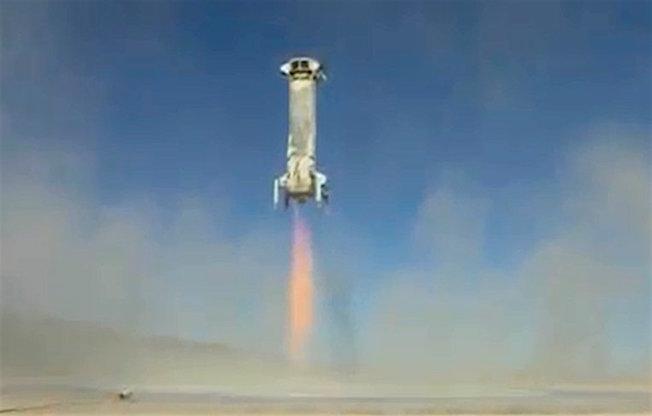 Llegada del cohete a tierra / Blue Origin
