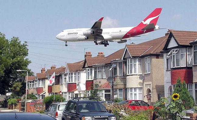 Aproximación a Heathrow de un avión de Qantas / Wikipedia