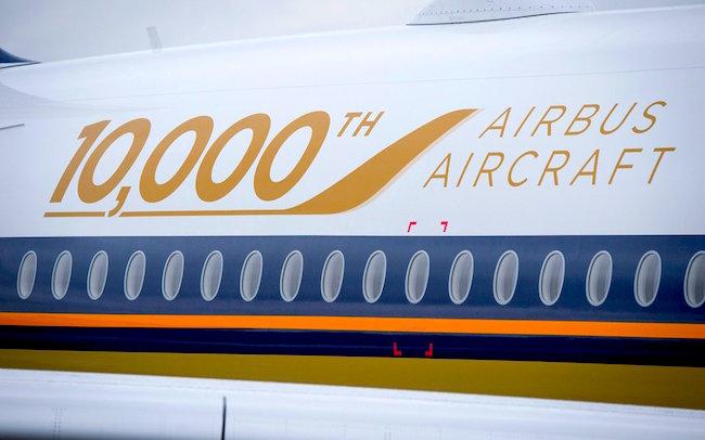 Pegatina para conmemorar la unidad 10.000 / Airbus