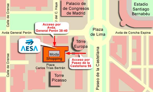 Plano de la sede de AESA en Madrid