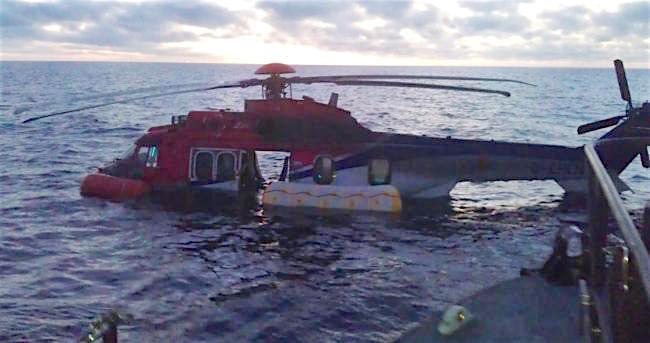 Accidente de un Super Puma en 2012 en la Isla Fair (Mar del Norte)