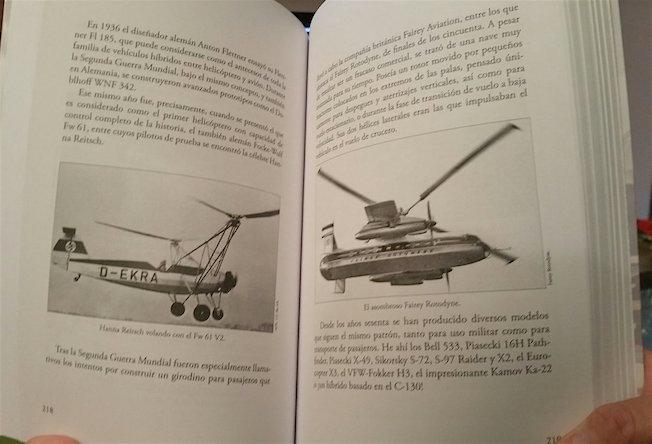 Páginas del libro 'Aviones bizarros'