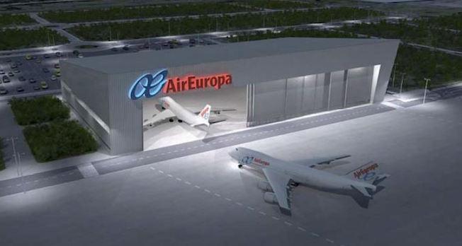 Eurofinsa construir el nuevo hangar de air europa en el aeropuerto madrid barajas aerotendencias - Oficinas air europa madrid ...