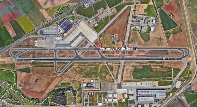 Aeropuerto de Sevilla / Google Earth